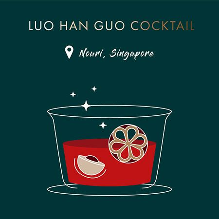 Recette Luo Han Guo Cocktail  | Maison Gamet